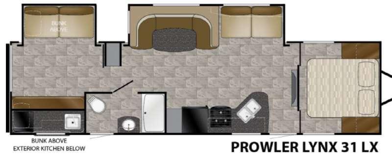 Floorplan - 2017 Heartland Prowler Lynx 31 LX