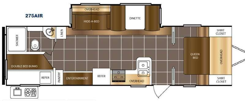 Floorplan - 2017 Prime Time RV Tracer Air 275AIR