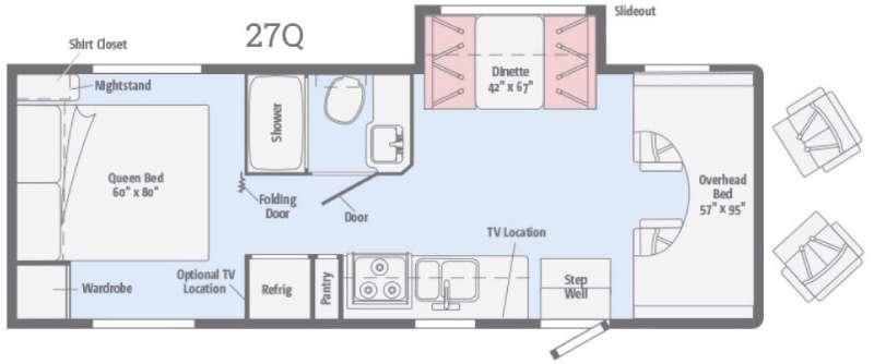 Spirit 27Q Floorplan Image