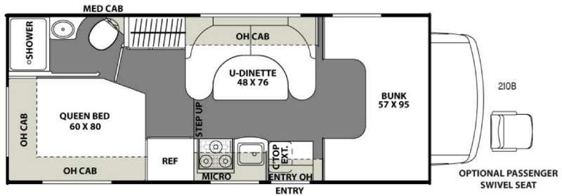 Freelander 21QB  Chevy 4500 Floorplan Image