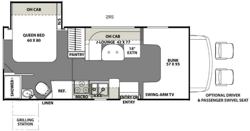 Freelander 21RS Ford 350 Floorplan Image