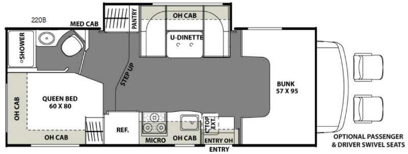 Freelander 22QB Chevy 4500 Floorplan Image