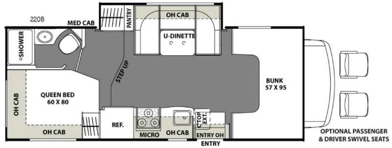 Floorplan - 2017 Coachmen RV Freelander 22QB Ford 350