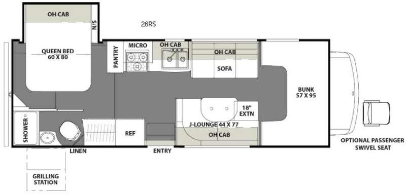 Freelander 26RS Chevy 4500 Floorplan Image
