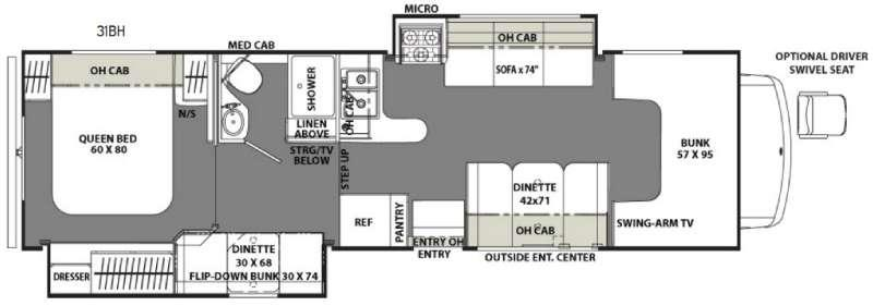 Freelander 31BH Ford 450 Floorplan Image