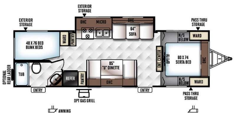 Flagstaff Super Lite 27BESS Floorplan Image