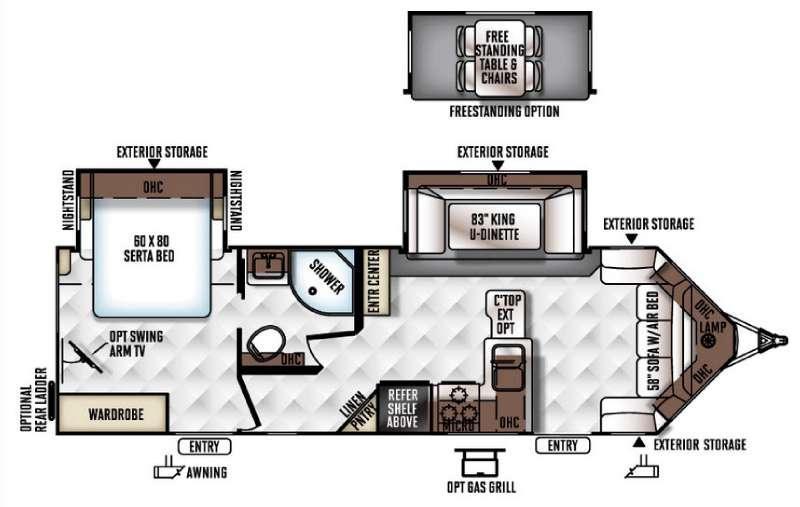 Flagstaff Super Lite 28VRBS Floorplan Image