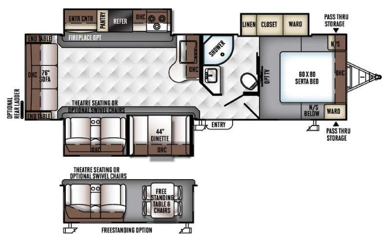 Floorplan - 2017 Forest River RV Flagstaff Super Lite 29KSWS