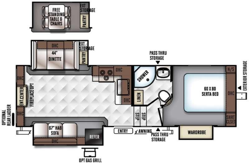 Rockwood Ultra Lite 2650WS Floorplan Image