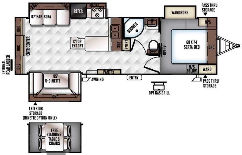 Rockwood Ultra Lite 2703WS Floorplan Image
