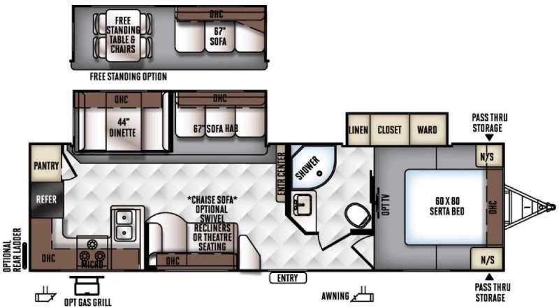 Rockwood Ultra Lite 2902WS Floorplan