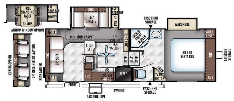 Rockwood Signature Ultra Lite 8244WS Floorplan Image