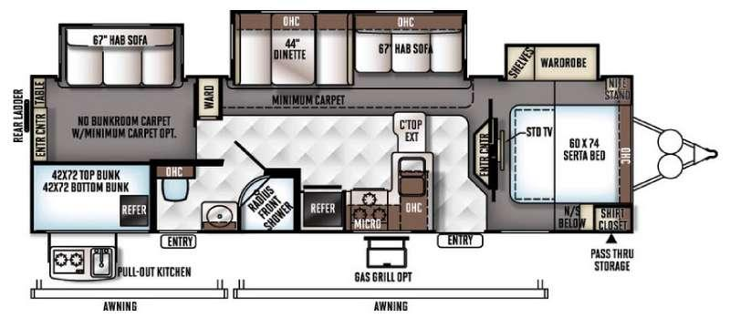 Floorplan - 2017 Forest River RV Rockwood Signature Ultra Lite 8311WS
