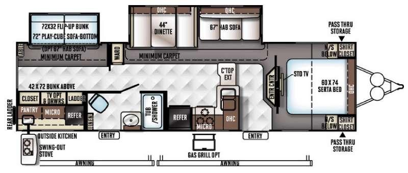 Floorplan - 2017 Forest River RV Rockwood Signature Ultra Lite 8312SS