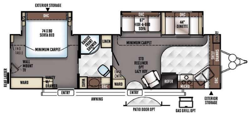 Rockwood Signature Ultra Lite 8315BSS Floorplan Image
