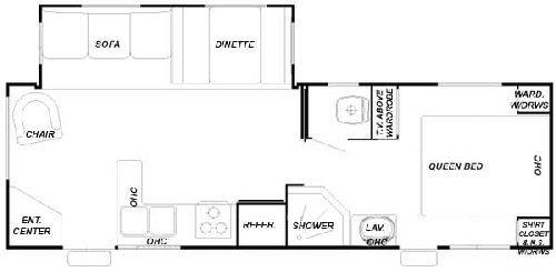 Floorplan - 2004 Forest River RV Cedar Creek Silverback 27 LRLS