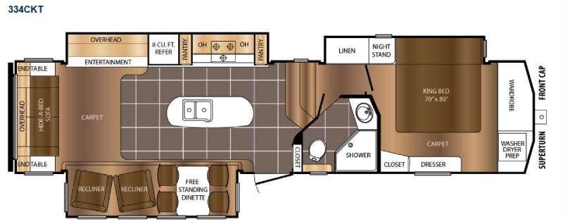 Crusader 334CKT Floorplan Image