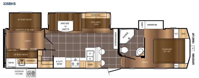 Crusader 335BHS Floorplan Image