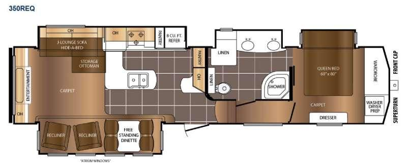 Crusader 350REQ Floorplan Image