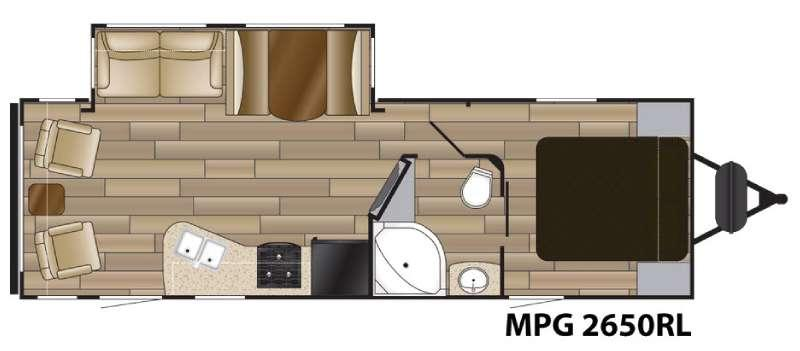 Floorplan - 2017 Cruiser MPG 2650RL
