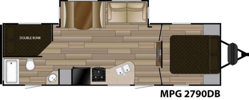 Floorplan - 2017 Cruiser MPG 2790DB