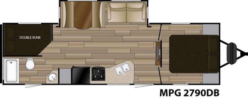 MPG 2790DB Floorplan