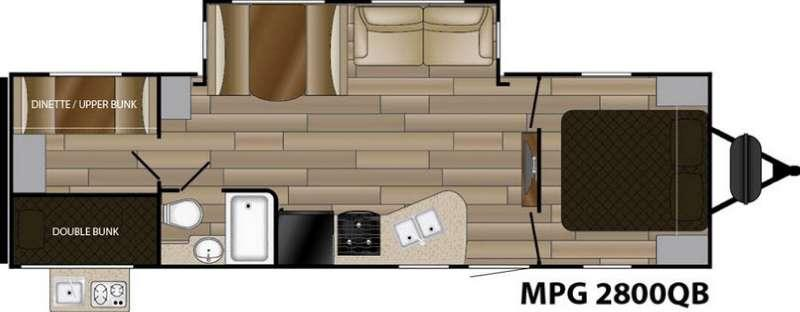 Floorplan - 2017 Cruiser MPG 2800QB