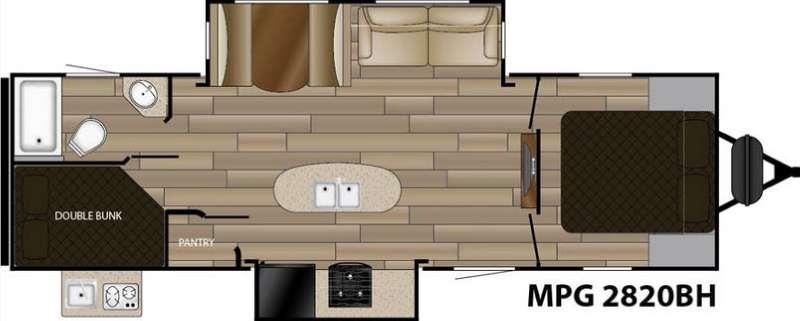 Floorplan - 2017 Cruiser MPG 2820BH
