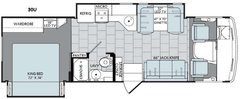Admiral XE 30U Floorplan Image