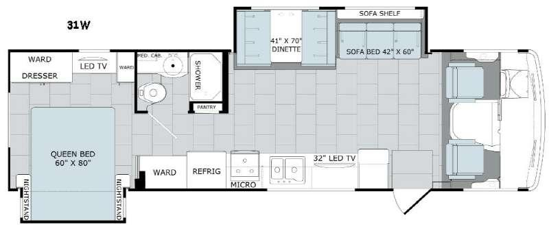 Admiral XE 31W Floorplan Image