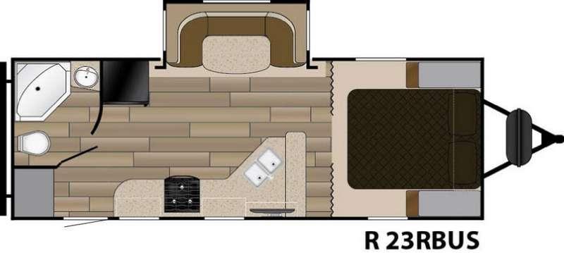 Floorplan - 2017 Cruiser Radiance Touring R-23RBUS