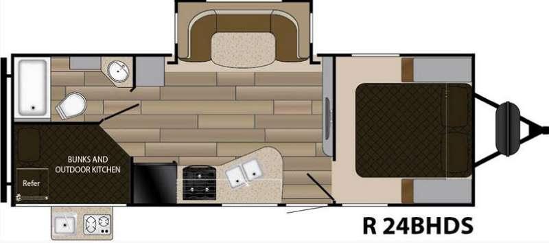 Floorplan - 2017 Cruiser Radiance Touring R-24BHDS