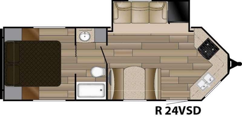Floorplan - 2017 Cruiser Radiance Touring R-24VSD