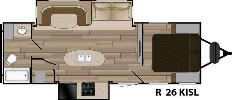 Floorplan - 2017 Cruiser Radiance Touring R-26KISL