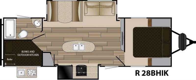 Floorplan - 2017 Cruiser Radiance Touring R-28BHIK