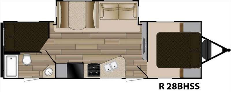 Floorplan - 2017 Cruiser Radiance Touring R-28BHSS