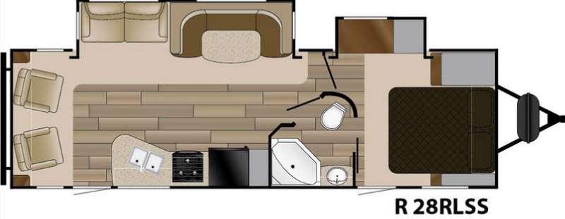 Radiance Touring R-28RLSS Floorplan Image