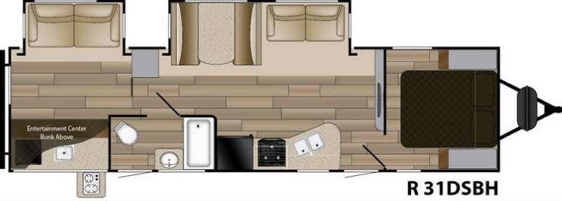 Radiance Touring R-31DSBH Floorplan Image