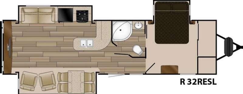 Floorplan - 2017 Cruiser Radiance Touring R-32RESL