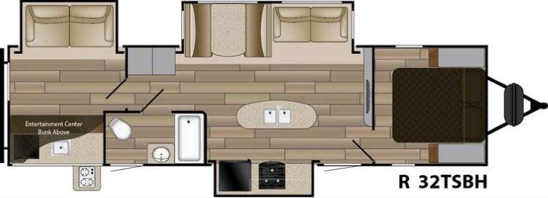 Floorplan - 2017 Cruiser Radiance Touring R-32TSBH