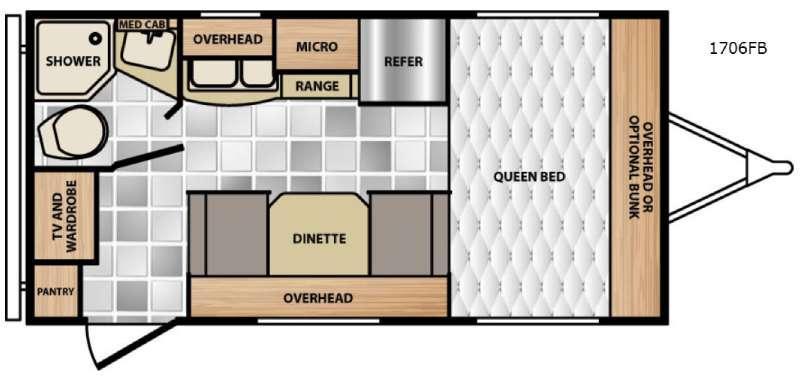 Micro Minnie 1706FB Floorplan Image