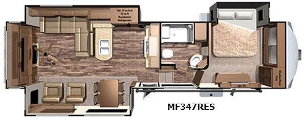 Floorplan - 2017 Highland Ridge RV Mesa Ridge MF347RES