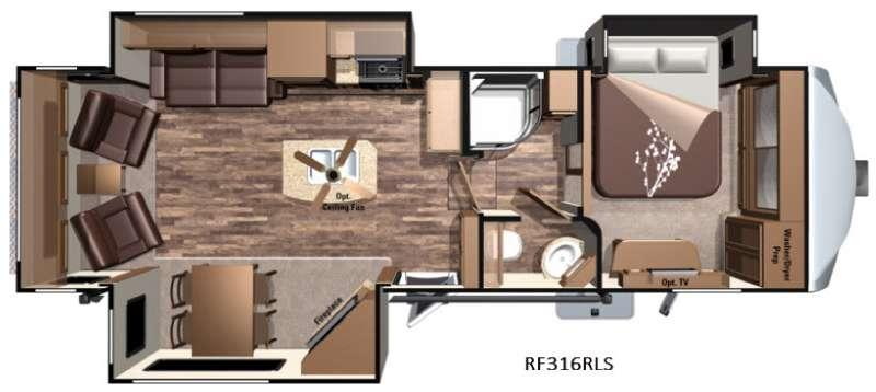 Open Range Roamer RF316RLS Floorplan Image