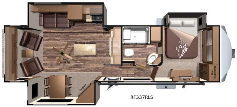 Open Range Roamer RF337RLS Floorplan Image