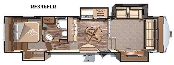 Open Range Roamer RF346FLR Floorplan Image
