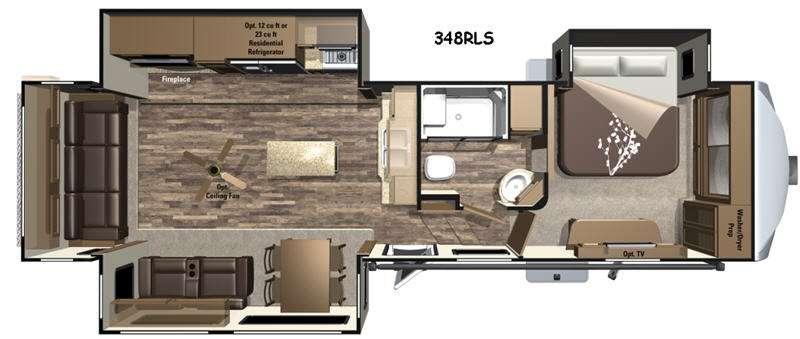 Open Range Roamer RF348RLS Floorplan Image