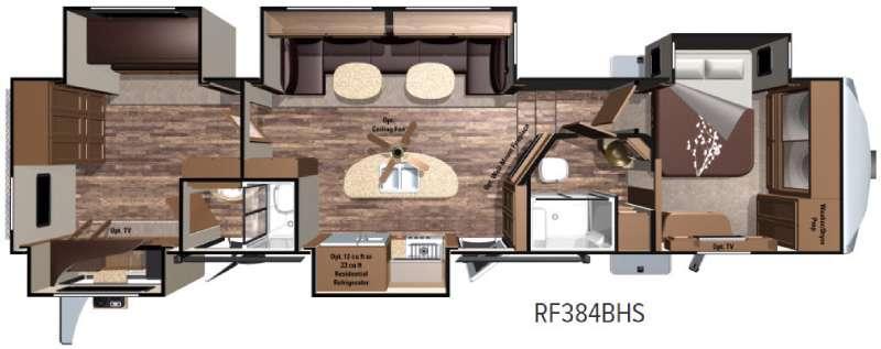 Open Range Roamer RF384BHS Floorplan Image