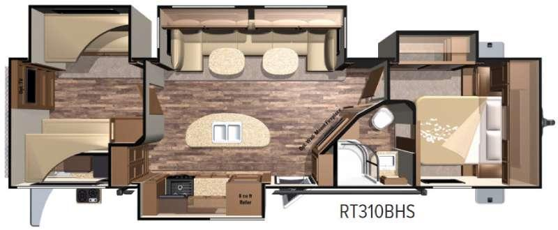 Floorplan - 2017 Highland Ridge RV Open Range Roamer RT310BHS