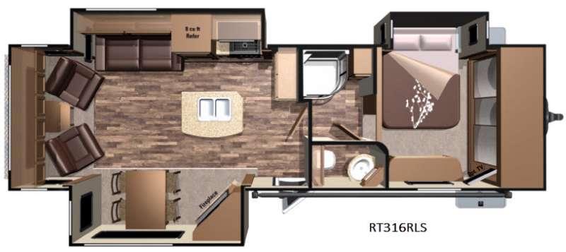 Open Range Roamer RT316RLS Floorplan Image
