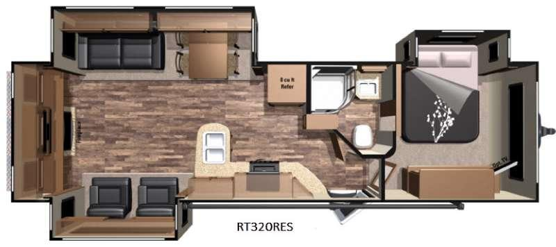 Open Range Roamer RT320RES Floorplan Image